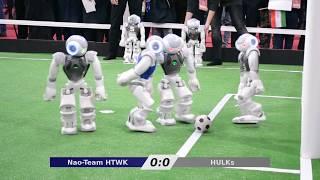 Nao-Team HTWK vs. HULKs - RoboCup Iran Open 2018 Final