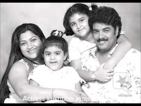 Kushboo Daughters and Family Photos