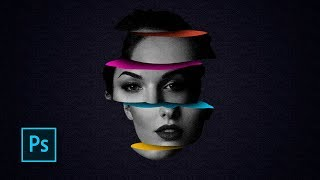 how to create sliced color head - inspired by Magdiel Lopez - Photoshop manipulation tutorials