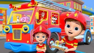 Wheels On The Fire Truck - Kids Songs & Nursery Rhymes By Little Treehouse