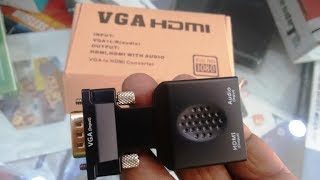 VGA to HDMI Converter with Audio (Connect PC to TV)