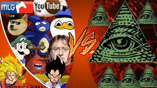 MLG and YOUTUBE POOP vs ILLUMINATI! FINAL FACE-OFF! Cartoon Fight Club Episode 33 REACTION!!!