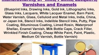 Composition and Formulas for Manufacturing of Inks, Paints, Lacquers, Varnishes and Enamels