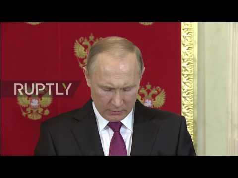 Russia: Putin welcomes Italy's Mattarella in Moscow for bilateral talks