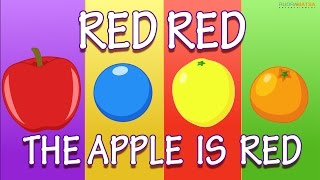 Learn Colours | Apple is Red | Cartoon Nursery Rhymes For Children | Rudra Matsa