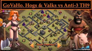 Low Hero GoVaHo. How to use Valkyrie + Hogs to 3 STAR Dead Space Bases. Clash of Clans TH9