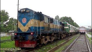 Sagordari Express Train Crossing With Rupsha Express & Benapole Commuter At Jashore Junction In Rain