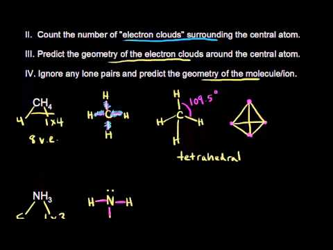 VSEPR for 4 electron clouds | Chemical bonds | Chemistry | Khan Academy