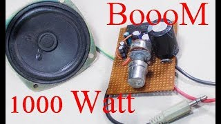 How to make a simple audio Amplifier at Home | How to make audio amplifier 1000 watts