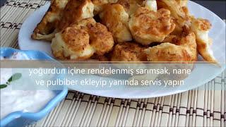 Farklı sosu ile dışı çıtır içi yumuşacık karnabahar kızartması yemeği tarifi - Yemek tarifleri
