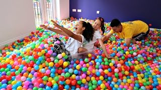 Ball Pit Challenge In My House - Surprise Toys - Bad Kids Indoor Fun Activities