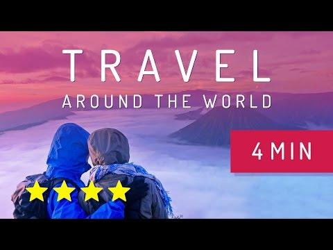 Travel around the world in 4 minutes Julie & Julien Lesjus