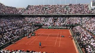 2018 Roland-Garros men's final - 2nd set point