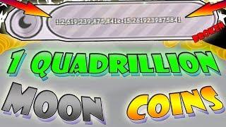 1 Quadrillion Moon Coins!!! (1000+ Trillion) - Roblox Pet simulator