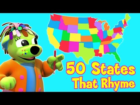watch 50 States That Rhyme | Song With Lyrics | U.S.A - Raggs Tv