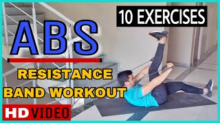 #6: 10 Abs Workout With Resistance Band By Nikhil Agrawal