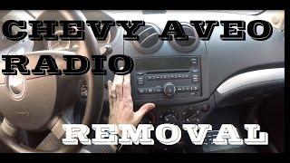 How to remove Radio in Chevrolet Aveo