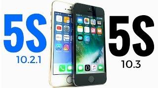 iPhone 5S iOS 10.2.1 vs iPhone iOS 10.3 Beta 6