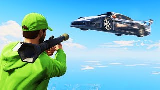 ROCKETERS vs. FLYING CARS! (GTA 5 Funny Moments)