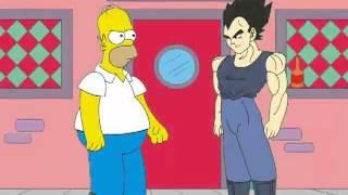 Homero Simpson vs. Vegeta - Parodia