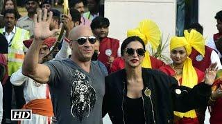 Deepika welcomes Vin Diesel in Desi Style with Band-Baaja