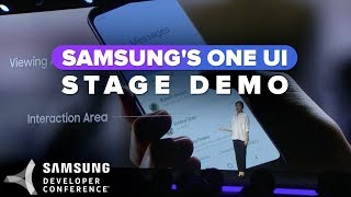 One UI stage demo at Samsung