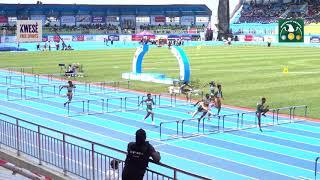 Tobi Amusan wins  women's 100m hurdles final at the 2018 African Athletics Championships Asaba