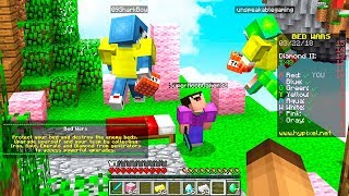ADMIN GAVE EVERYONE CREATIVE MODE in MINECRAFT BED WARS! #Minecraft