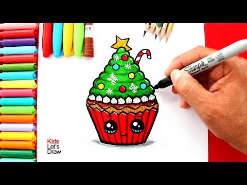 Xxx Mp4 Aprende A Dibujar Un CUPCAKE DE NAVIDAD Kawaii How To Draw A Cute Christmas Cupcake 3gp Sex