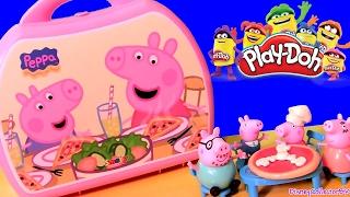 Pizzaria Peppa Pig com Massinhas de Pizza Play Doh | Pizzeria Carry Case | Maletín Pizzería Peppa