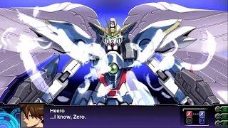 Super Robot Wars Z3: Tengoku Hen - Wing Gundam Zero Custom All Attacks (English Subs)