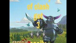 Level 3 Pekka attack and get 3 star ★★★ only 8 pekka  and 4 wiz
