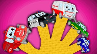 Happy and Sweety |Emergency Vehicles Finger Family