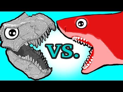 MINI TOYS! My Cute Shark Attack Cartoon #31 (TOYS Dino Vs. TRUCK Shark ! +BEST OF) kids cartoons!