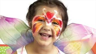 How to Face Paint a Tiger & Butterfly النمر والفراشة  Syraj Kids