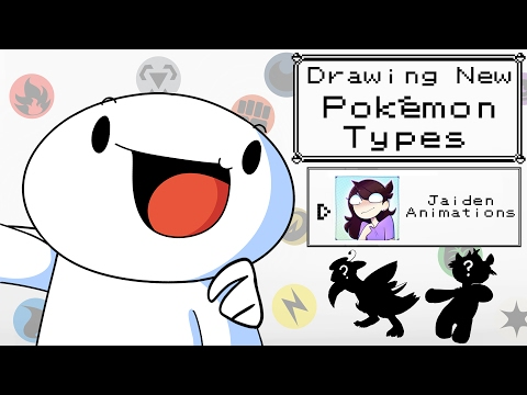Drawing New Pokemon Types w Jaiden Animations