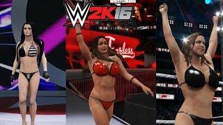 Nikki Bella vs. Paige vs. Stephanie McMahon  | Sexy WWE2K16 Triple threat bikini barefoot Match