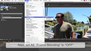 Using Twixtor and After Effects to retime both audio and video