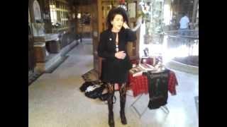 Gitane Demone sings at a Rozz Willams memorial service