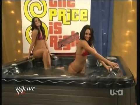 Nikki Bella and Brie Bella in a Hot Tub