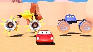 Spid si mobil balap & 2 motor mabur kayata Star Wars   Kartun kanggo anak kaya Lightning McQueen