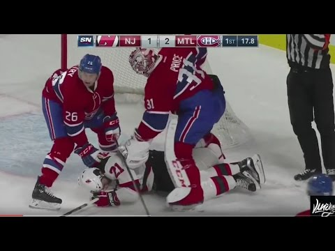 Price punches Palmieri with blocker!