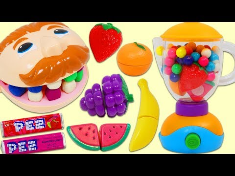 Xxx Mp4 Feeding Mr Play Doh Head Toy Velcro Cutting Fruit And Candy Slime Smoothies 3gp Sex