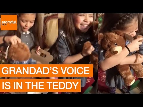 Little Girls' Heartwarming Reaction to Getting Toys With Their Late Grandpa's Voice
