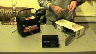 تعلم كيف تحول كهرباء من 12 فولت الى   220 فولت