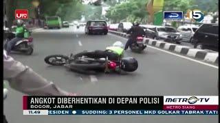 LUCU Banget!!! Nyopet Pas Di Depan Polisi, Pencopet Ini Sempat Jatuh Saat Digiring