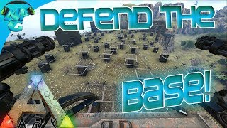 Ragnarok E42 Battle for the Base - Raid Defense to Protect our Home! ARK: Survival Evolved PVP