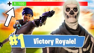 HOW TO WIN WITH 1 HP! (Fortnite: Battle Royale)