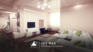 3D Max Modern Interior Modeling, Rendering, Vray 3.2, Photoshop 2016