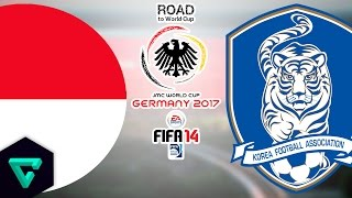 Indonesia vs. Korea Republic | AFC | Road To World Cup Germany 2017 | FIFA 14